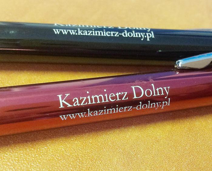 Długopisy z grawerem.